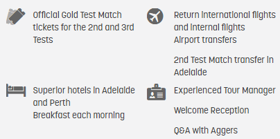 The Ashes 2nd and 3rd Tests - Adelaide and Perth