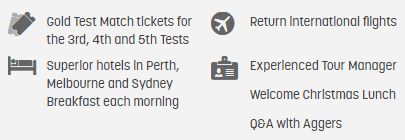 The Ashes 3rd, 4th and 5th Tests - Melbourne and Sydney